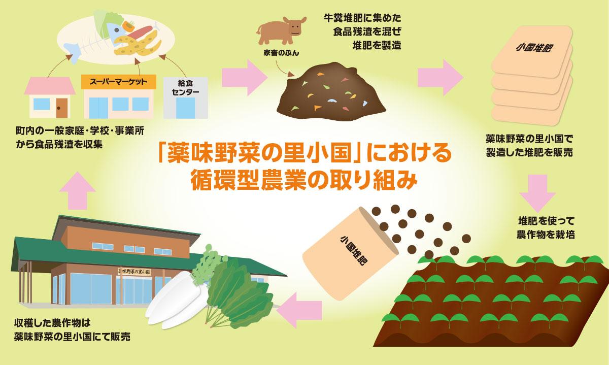薬味野菜の里における循環型農業について